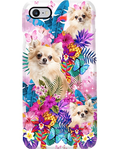 Flower Forest Pink Chihuahua Phone Case