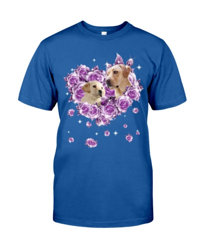 Labrador Retriever  mom purple rose