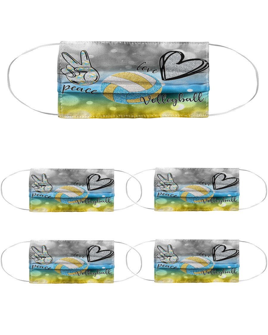 dt 11 volleyball cloth mask 23420 Cloth Face Mask - 5 Pack
