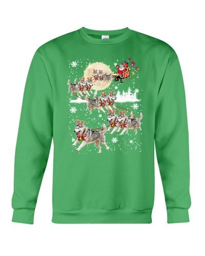 Siberian Husky Reindeer Christmas