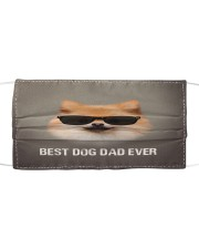 Th 5 Pomeranian Best Dog Dad Ever Cloth face mask front