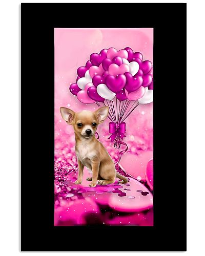 Chihuahua puppy heart balloon purple phone case