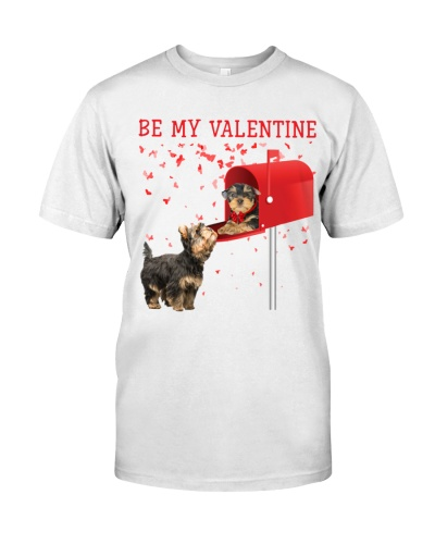 Yorkshire terrier be my valentine