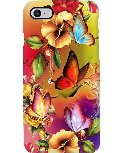 SHN 10 Melting colorful flower back Butterfly