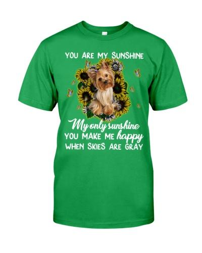 Sky gray u make me happy Yorkshire terrier
