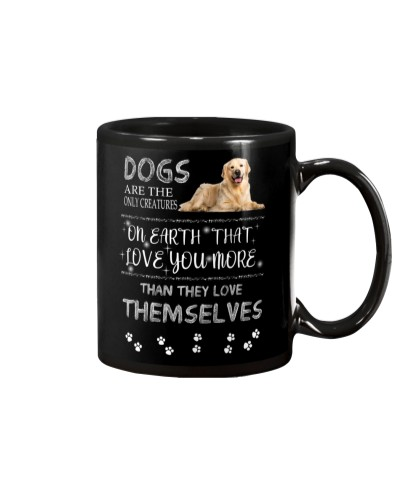 Golden Retriever love you more than mug