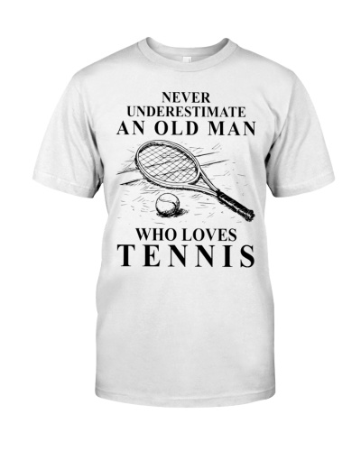 LT an old man who loves tennis