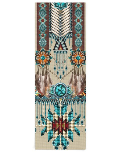 SHN 10 Native American pattern Yoga mat