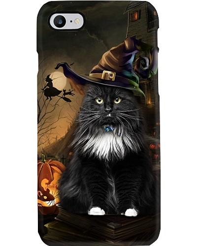 Cat halloween phone case