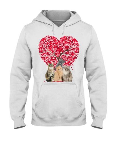Heart tree and love Cat