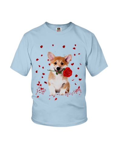 Corgi love you to the white black and red