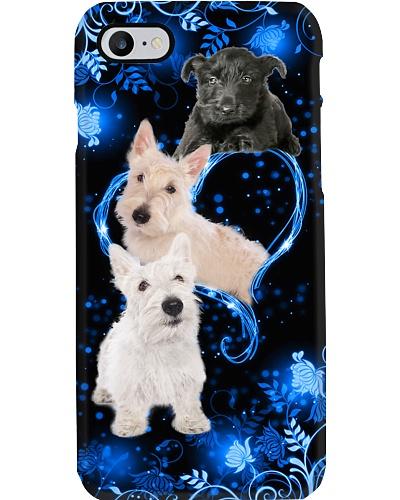 SHN 10 Twinkling blue heart Scottish Terier
