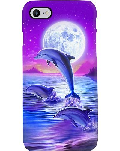 Purple sky Dolphin jumping