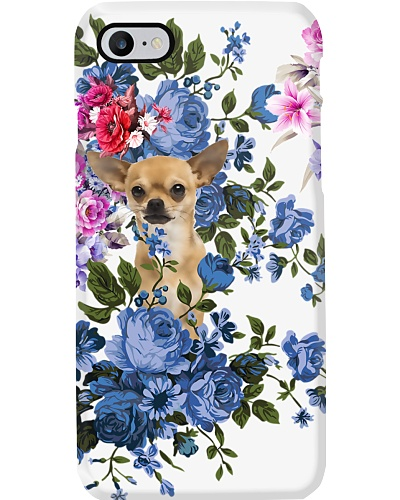 Chihuahua flower water color