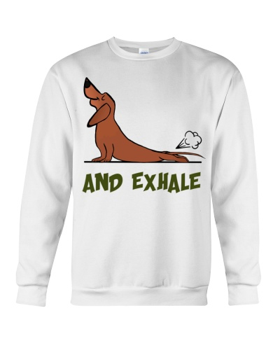 Ln dachshund and exhale