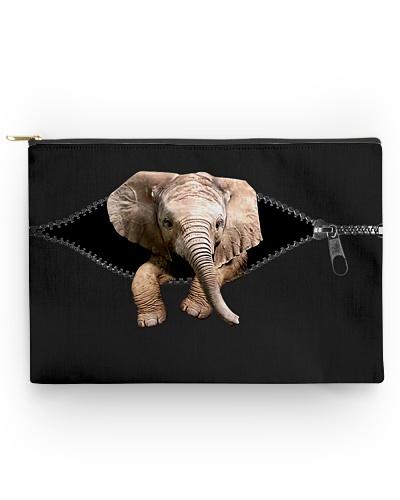 Elephant zip accessory pouch