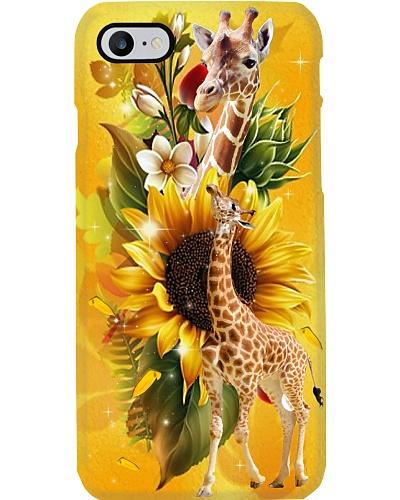 Sunflower With Giraffes