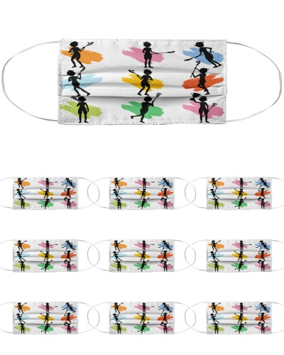 dt 11 lacrosse silhouette player cloth 21520