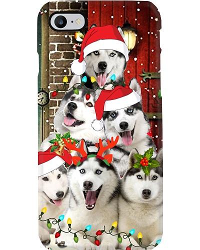 Siberian husky hello christmas