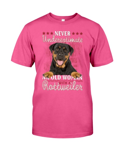 Rottweiler never underestimate old woman