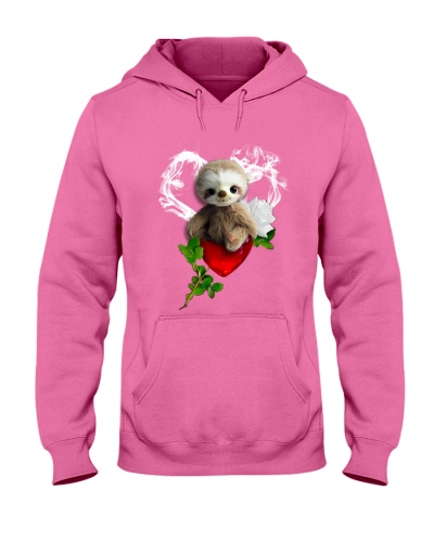 Red diamond heart love Sloth