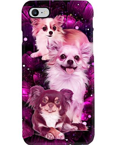 Magic galaxy rose Chihuahua phone case