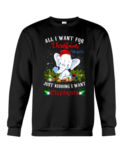 SHN All I want for Christmas is you Elephant shirt