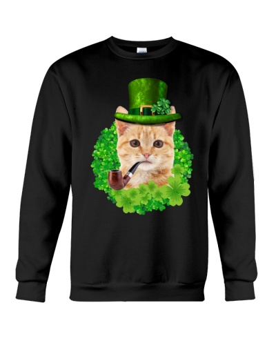 Cute Cat And Lucky Clover Saint Patrick