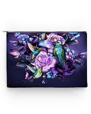 Hummingbird purple bag Accessory Pouch - Large thumbnail