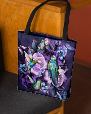 Hummingbird purple bag All-over Tote aos-all-over-tote-lifestyle-front-02