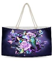 Hummingbird purple bag Weekender Tote thumbnail