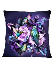 Hummingbird purple bag Square Pillowcase thumbnail
