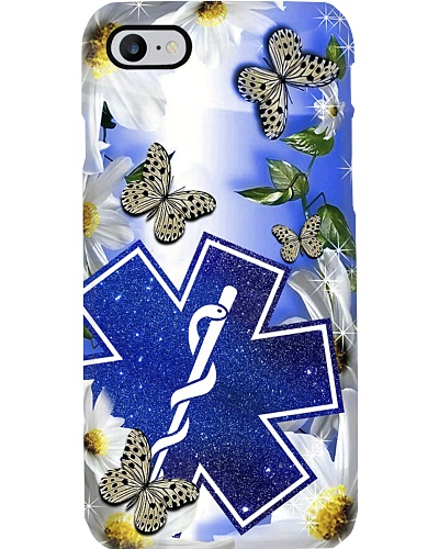 SHN 5 Blue daisy with butterfly Paramedic EMT