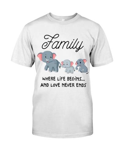 Elephant family where life begins