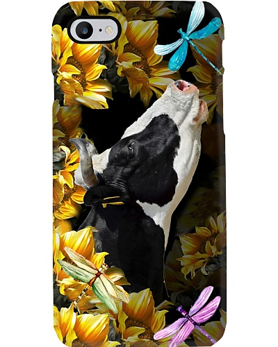 Cow sunflower phone case