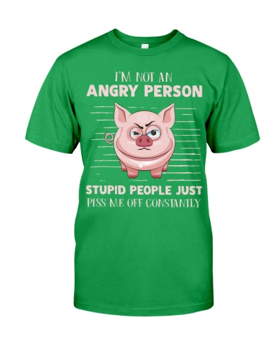 Pig angry person shirt