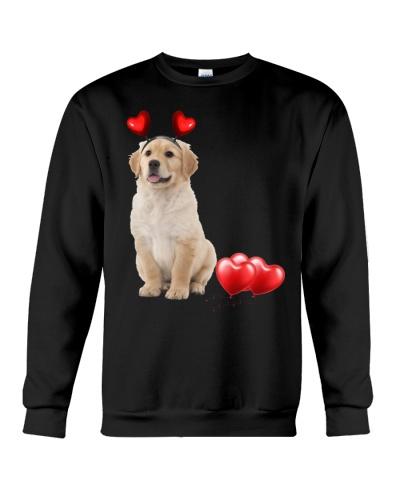 LT golden retriever so cute hearts shirt
