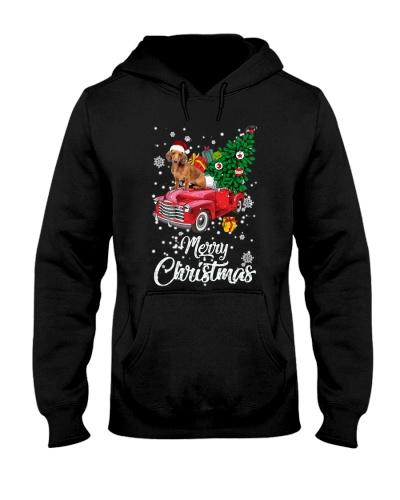 Dachshund merry christmas car