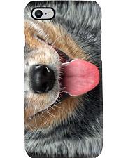 Blue Heeler Face Phone Case i-phone-8-case