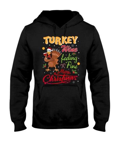 SHN Wine feeling fine Christmas Turkey shirt