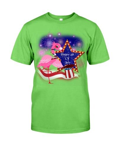 SHN 9 Happy 4th of July star hat Flamingo