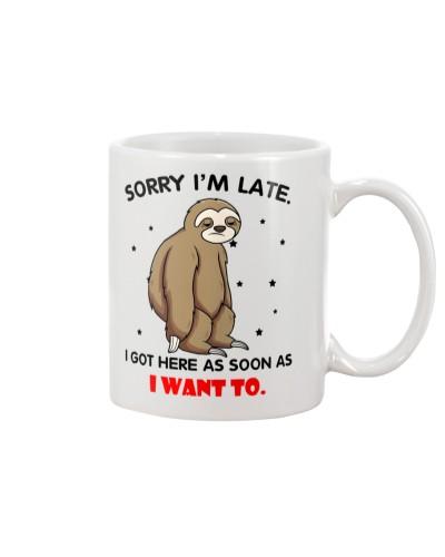 Sloth I'm Late