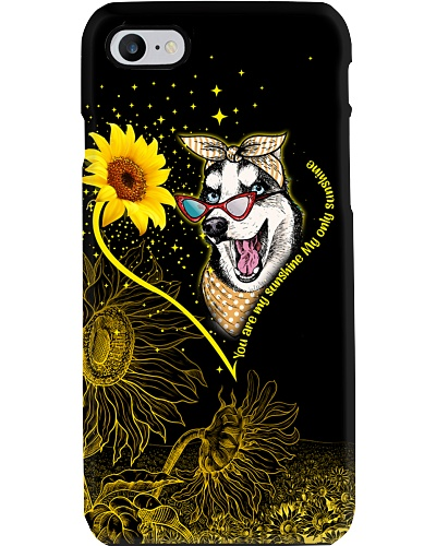 Siberian husky sunshine heart phone case
