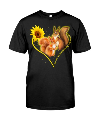 Squirrel heart sunflower