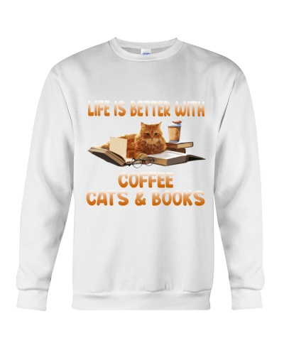 Cat book coffee life is better with