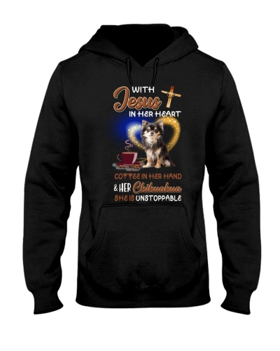 With Jesus coffee and Chihuahua she is unstoppable