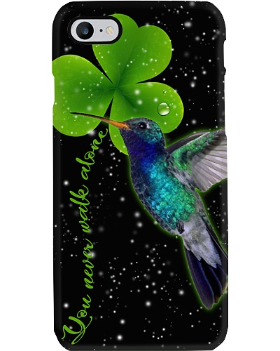Humming bird U never walk alone lucky phone case