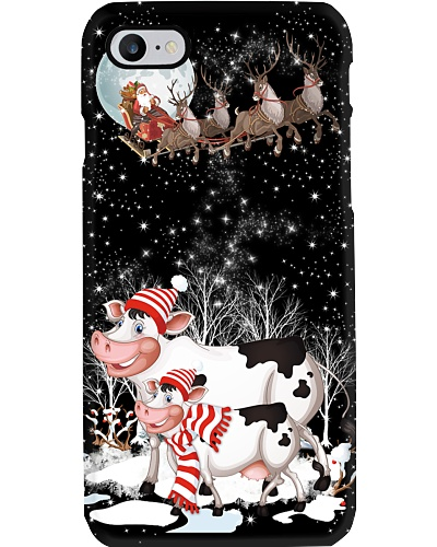 Cows christmas phone case