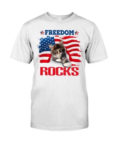 SHN 10 Freedom rocks USA flag Cat