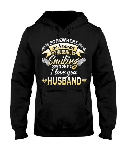 Qhn 10 Somewhere In Heaven My Husband Hoodie